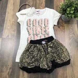 Girls Hello Kitty sequence skirt